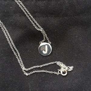 "Jewelry - Silver initial ""J"" necklace"